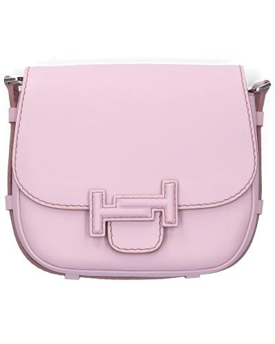 Handtasche DOUBLE T Kalbsleder Logo lila