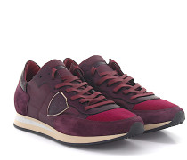 Sneaker TROPEZ LOW Leder Veloursleder Nylon bordeaux