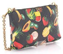 Handtasche Leder bunter Fruit Print geprägt