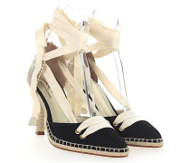 Pumps Espadrilles MANOLO HIGH Stoff schwarz