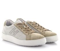 Sneakers H302 Verloursleder grau perforiertes logo