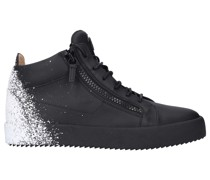 Sneaker high FRANKIE Kalbsleder Logo weiß