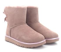 Stiefeletten Boots MINI BAILEY BOW 2 METALLIC Veloursleder rosa Lammfell