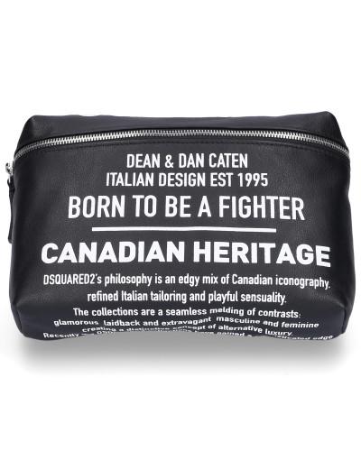 Belt Bag BUM BAG Kalbsleder Logo Print