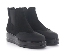 Stiefeletten Boots H323 Veloursleder Lyra-Lochung