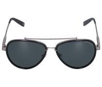 Sonnenbrille Aviator 086115 Metall Silber