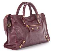 Handtasche Giant 12 City gold Leder bordeaux