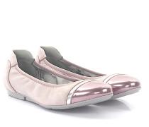 Ballerinas WRAP 144 Veloursleder rosa Lackleder rosa