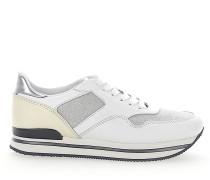 Sneaker H222 Kalbsleder Straussenbeinleder Glitzer