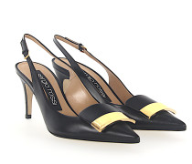 Slingpumps A80290 Nappaleder Gold-Plated