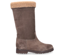 Stiefel 2125 Kalbsvelours taupe
