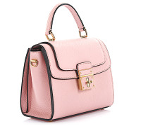 Handtasche Schultertasche Rosalia Leder rosa geprägt
