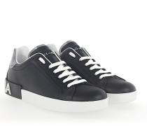 Sneaker PORTOFINO Leder silber Sohle Logo weiss