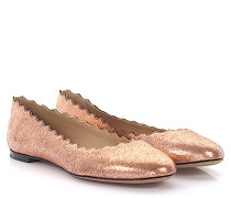 Ballerinas Lauren Leder pink finished