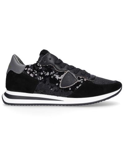 Sneaker low TRPX Kalbsleder Pailletten