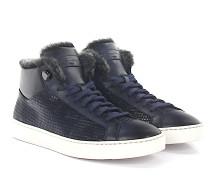 Sneaker 54977 Leder geprägt Lammfell
