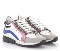 2 Sneaker 551 Leder weiss metallic rosa blau
