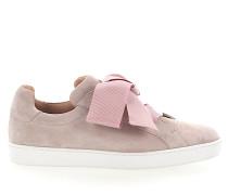 Sneaker low Kalbsleder Veloursleder rosa