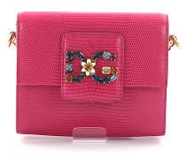 Handtasche Schultertasche DG MILLENNIALS Leder Logo Schmuckverzierung