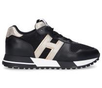 Sneaker low H383 Kalbsleder Materialmix Logo