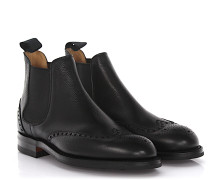 Chelsea Boots Newbury Budapester leder Scotchgrain Goodyear Welted