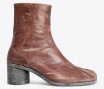 Ankle Boots Tabi Braun Zickelleder