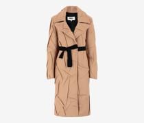 Trenchcoat aus Wolle im Crushed-Look