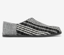 Slip-On-Schuhe Tabi mit Schottenmuster