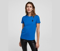 K/ikonik T-shirt mit Metallic-aufnäher