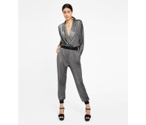 Glitzernder Lurex-Jumpsuit