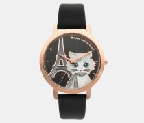 Armbanduhr Choupette in Paris