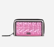 K/Kuilted rosafarbene Brieftasche mit Reißverschluss