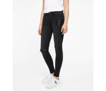 Slim fit Biker-Jeans Satin Zips