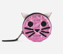 K/Kuilted rosafarbenes Katzen-Portemonnaie