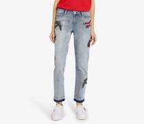 Kaptain Karl Girlfriend-Jeans aus Denim