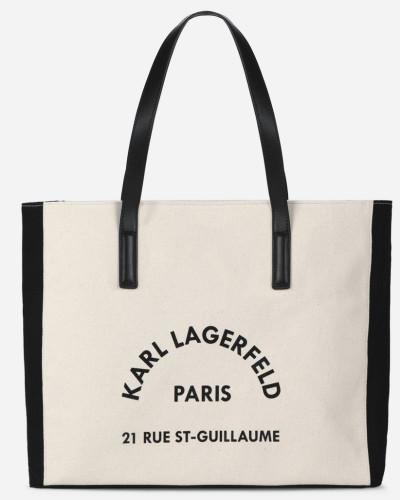K/Rue Lagerfeld Canvas-Tasche