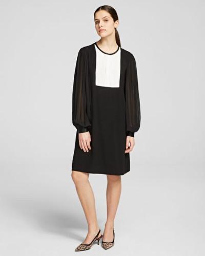 Midi-Kleid mit plissiertem Ärmel