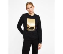 Sweatshirt mit Karl Lagerfeld-Logo aus Folie