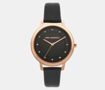 Armbanduhr Vanessa in Roségold und Schwarz