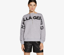 Kl Logo-Sweatshirt in Cropped-Passform