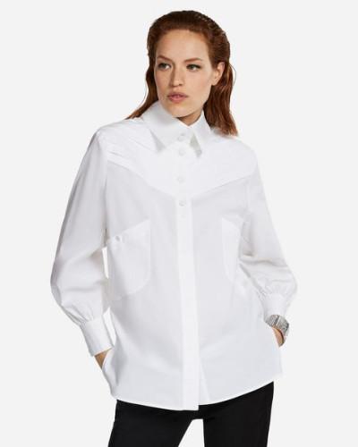 KARL Taillierte Bluse mit Biesen-Details