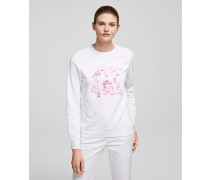 SWEATSHIRT MIT ORCHIDEENPRINT