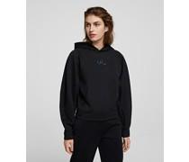 Glitzernder Cropped-hoodie