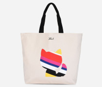Eleganter Canvas-Shopper K/Stripes