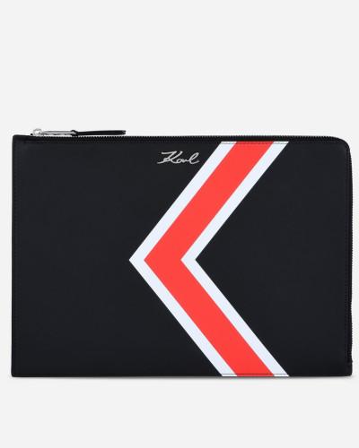 Karl Lagerfeld Damen Schmale Ledertasche K/Stripes