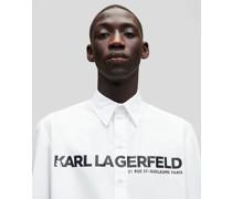 Karl Logo Popeline-hemd