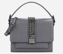 K/Chain Closure Crossbody Bag