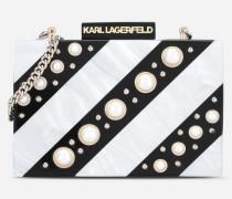 Rockige Minaudière mit Perlen