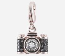 Silberfarbener Kamera-Anhänger