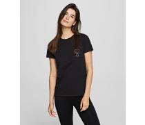 K/ikonik T-shirt mit Karl-Silhouette Auf Der Tasche